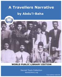 A Travellers Narrative by Abdu'L-baha