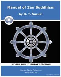 Manual of Zen Buddhism by Suzuki, D. T.