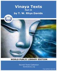 Sacred Text : Vinaya Texts, Part Ii, Vol... by Davids, T. W., Rhys