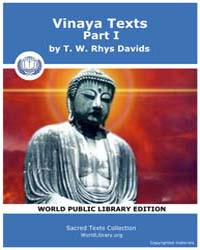 Vinaya Texts, Part I, Score Bud Sbe13 Volume Vol. XIII by Davids, T. W., Rhys