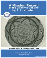 A Mission Record of the California India... Volume Vol. 8 by Kroeber, A. L.