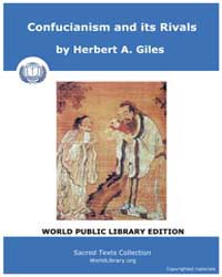 Confucianism and Its Rivals by Giles, Herbert, A.