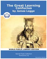 The Great Learning Confucius by Legge, James
