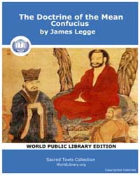 The Doctrine of the Mean Confucius by Legge, James