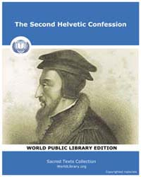 The Second Helvetic Confession, Score Ch... by Sacred Texts