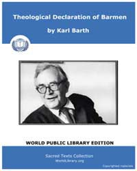 Theological Declaration of Barmen, Score... by Karl Barth