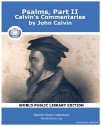 Psalms, Part Ii, Calvin's Commentaries, ... by Calvin, John