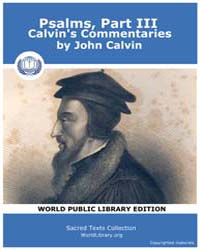 Psalms, Part Iii, Calvin's Commentaries,... by Calvin, John