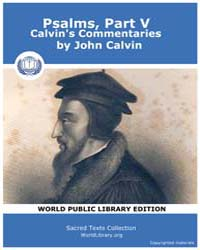 Psalms, Part V, Calvin's Commentaries, S... by Calvin, John