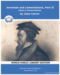 Jeremiah and Lamentations, Part Ii, Calv... by Calvin, John