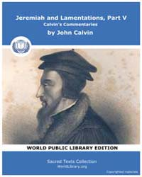 Jeremiah and Lamentations, Part V, Calvi... by Calvin, John