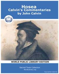 Hosea, Calvin's Commentaries, Score Chr ... by Calvin, John