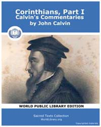 Corinthians, Part I, Calvin's Commentari... by Calvin, John