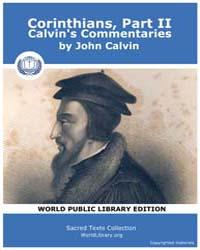 Corinthians, Part Ii, Calvin's Commentar... by Calvin, John
