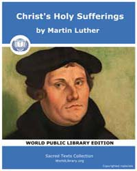 Christ's Holy Sufferings, Score Chr Chrs... by Luther, Martin