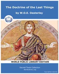 The Doctrine of the Last Things, Score C... by W.O.E. Oesterley
