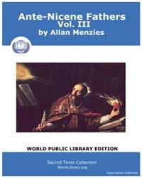 Ante-nicene Fathers, Volume Iii, Score C... by Allan Menzies