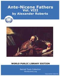 Ante-nicene Fathers, Volume Viii, Score ... by Roberts, Alexander
