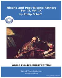 Nicene and Post-nicene Fathers, Ser. Ii,... Volume II, Number IX by Schaff, Philip