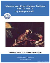 Nicene and Post-nicene Fathers, Ser. Ii,... Volume II, Number X by Schaff, Philip