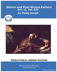 Nicene and Post-nicene Fathers, Ser. Ii,... Volume II, Number XIV by Schaff, Philip