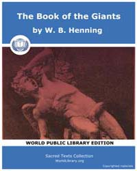 The Book of the Giants by Henning, W. B.