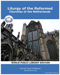 Liturgy of the Reformed by Sacred Classic Texts