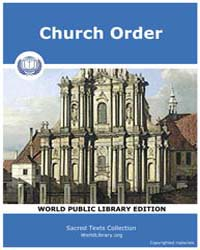 Church Order by Sacred Classic Texts