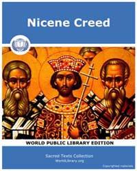 Nicene Creed, Score Chr Nicene by Sacred Texts