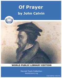 Of Prayer, Score Chr Pray by Calvin, John