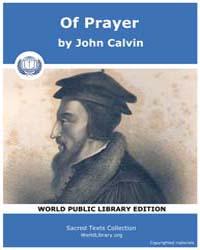 Of Prayer, Score Chr Pray by Calvin, John