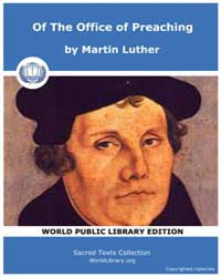 Of the Office of Preaching by Luther, Martin