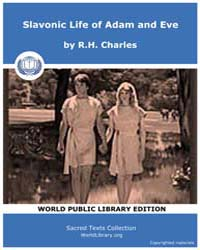 Slavanic Life of Adam and Eve by Charles,r.H.