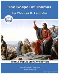 The Gospel of Thomas, Score Chr Thomas by O. Lambdin, Thomas