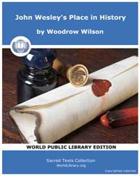 John Wesley's Place in History by Wilson, Woodrow