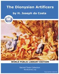 The Dionysian Artificers, Score Dart by Costa, H. Joseph Da