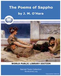 The Poems of Sappho, Score Pos by O'Hara, J. M.