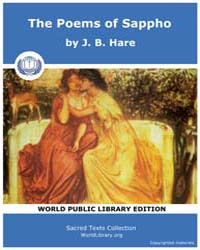 The Poems of Sappho, Score Sappho by Cox, Edwin Marion