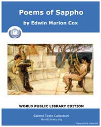 Poems of Sappho, Score Usappho by Cox, Edwin Marion
