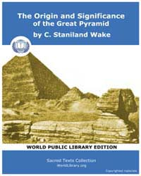 The Origin and Significance of the Great... by Staniland Wake, C.