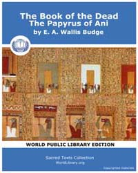 The Book of the Dead, the Papyrus of Ani by Budge, E. A. Wallis