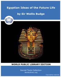 Egyptian Ideas of the Future Life, Score... by Budge, Sir Wallis