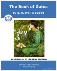 The Book of Gates, Score Egy Gate by Wallis Budge, E. A.