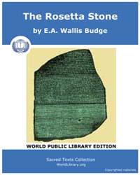 The Rosetta Stone, Score Egy Trs by Budge, E.A. Wallis