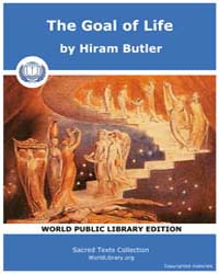 The Goal of Life by Butler, Hiram