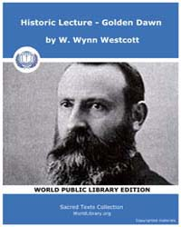 Historic Lecture - Golden Dawn by Westcott, W. Wynn