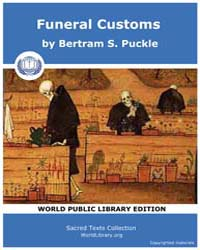 Funeral Customs by Puckle, Bertram S.