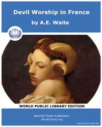 Devil Worship in France by Waite, A. E.