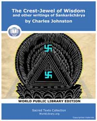 The Crest-jewel of Wisdom and Other Writ... by Johnston, Charles