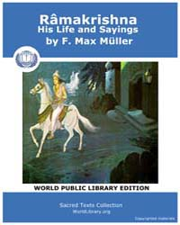 Ramakrishna, His Life and Sayings, Score... by Müller, F. Max